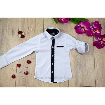 Елегантна бяла риза