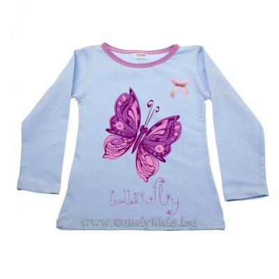 Блуза Пеперуда синя