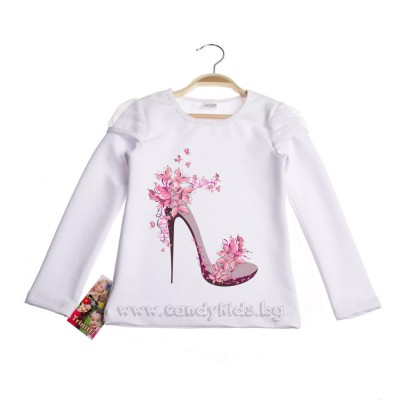 Красива нежна блуза за момиче