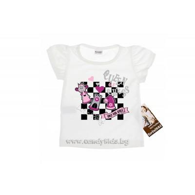 Тениска шах-мат за момиченце
