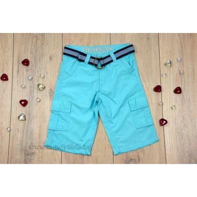 Сини къси панталонки с колан