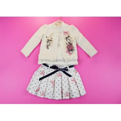 Елегантен комплект за малка дама розово