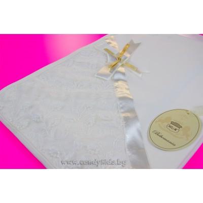Луксозна пелена одеалце с дантела