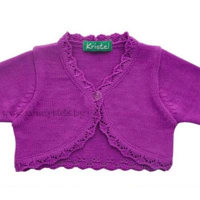 Нежно боди от плетиво за бебе момиченце