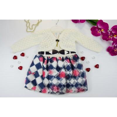 Официална бебешка рокличка с болеро