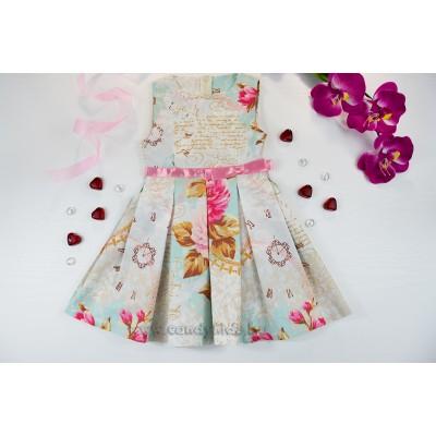 Красива лятна рокля с розова пандела