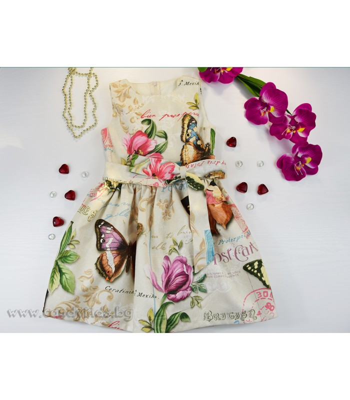 Разкошна луксозна рокля Пеперуди