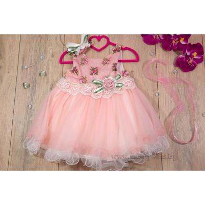Луксозна официална рокличка цветя