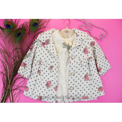 Разкошно сако с блуза за момиченце
